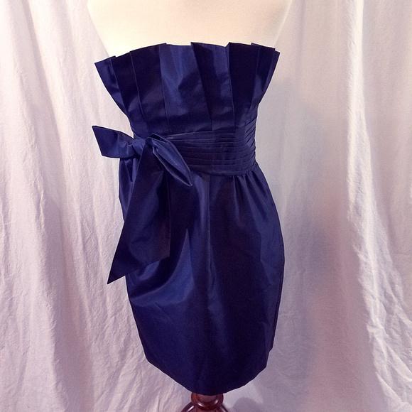 Laundry By Shelli Segal Dresses & Skirts - Laundry by Shelli Segal Navy Blue Strapless Dress